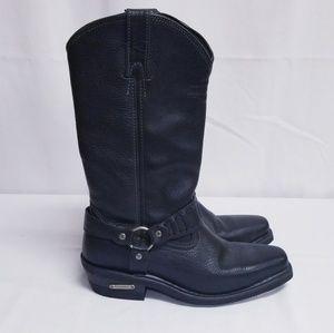 Harley Davidson Women's Black Western Boots Size 8